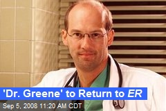 'Dr. Greene' to Return to ER