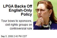 LPGA Backs Off English-Only Policy