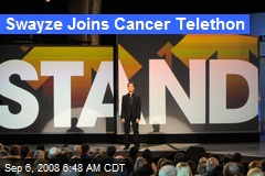 Swayze Joins Cancer Telethon