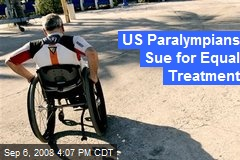 US Paralympians Sue for Equal Treatment