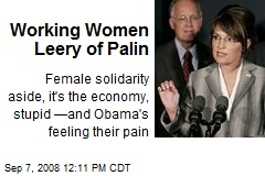 Working Women Leery of Palin