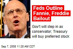 Feds Outline Fannie, Freddie Bailout