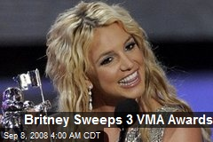 Britney Sweeps 3 VMA Awards