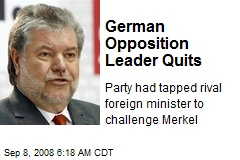 German Opposition Leader Quits
