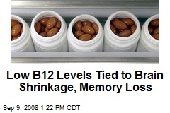 Low B12 Levels Tied to Brain Shrinkage, Memory Loss