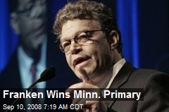 Franken Wins Minn. Primary