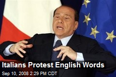 Italians Protest English Words