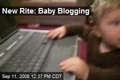 New Rite: Baby Blogging