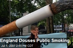 England Douses Public Smoking
