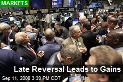 Late Reversal Leads to Gains