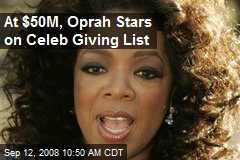 At $50M, Oprah Stars on Celeb Giving List