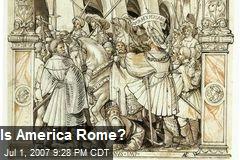 Is America Rome?