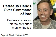 Petraeus Hands Over Command of Iraq