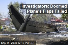 Investigators: Doomed Plane's Flaps Failed