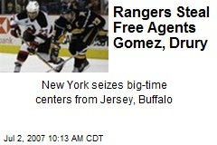 Rangers Steal Free Agents Gomez, Drury