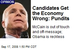 Candidates Get the Economy Wrong: Pundits