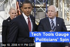 Tech Tools Gauge Politicians' Spin
