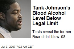 Tank Johnson's Blood Alcohol Level Below Legal Limit