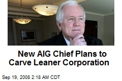 New AIG Chief Plans to Carve Leaner Corporation
