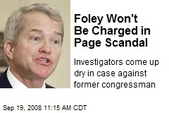 Foley Won't Be Charged in Page Scandal