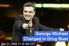 George Michael Charged in Drug Bust