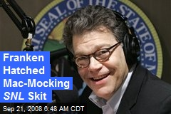 Franken Hatched Mac-Mocking SNL Skit