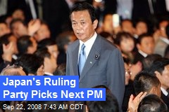 Japan's Ruling Party Picks Next PM