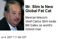 Mr. Slim Is New Global Fat Cat