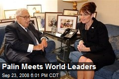 Palin Meets World Leaders