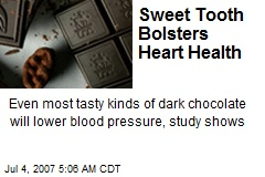 Sweet Tooth Bolsters Heart Health