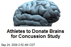 Athletes to Donate Brains for Concussion Study