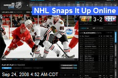 NHL Snaps It Up Online
