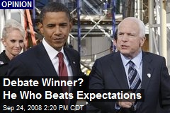 Debate Winner? He Who Beats Expectations