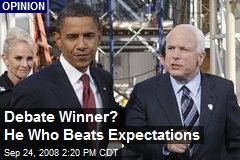 Debate Winner? He Who Beats Expectations