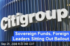 Sovereign Funds, Foreign Leaders Sitting Out Bailout