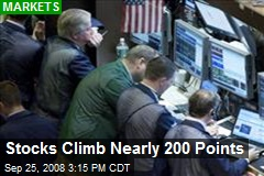 Stocks Climb Nearly 200 Points
