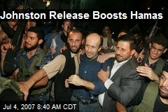 Johnston Release Boosts Hamas