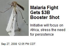Malaria Fight Gets $3B Booster Shot