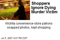 Shoppers Ignore Dying Murder Victim