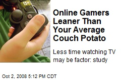 Online Gamers Leaner Than Your Average Couch Potato