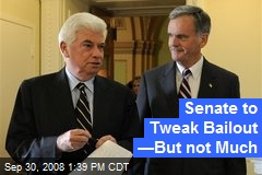 Senate to Tweak Bailout —But not Much