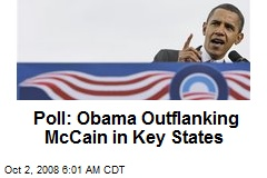 Poll: Obama Outflanking McCain in Key States