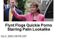 Flynt Flogs Quickie Porno Starring Palin Lookalike