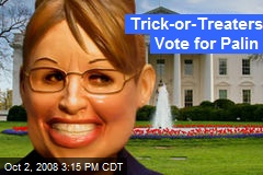 Trick-or-Treaters Vote for Palin