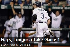 Rays, Longoria Take Game 1