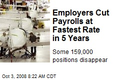 Employers Cut Payrolls at Fastest Rate in 5 Years