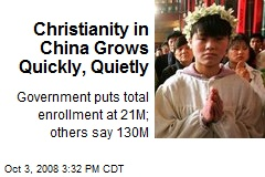 Christianity in China Grows Quickly, Quietly