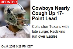 Cowboys Nearly Cough Up 17-Point Lead
