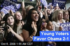 Young Voters Favor Obama 2-1