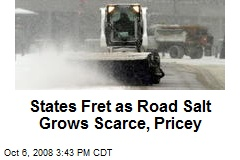 States Fret as Road Salt Grows Scarce, Pricey